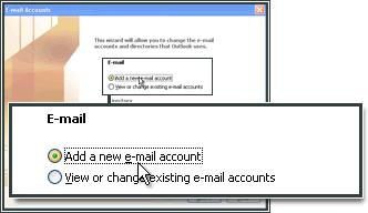 Voeg een nieuwe e-mailaccount toe.