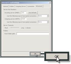 Ga verder met de mail instellingen van Microsoft Outlook 2007.