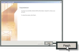 Het instellen van Outlook 2007 is voltooid.